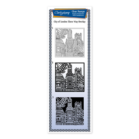 City Skyline - London <br/> Three Way Overlay Stamp Set