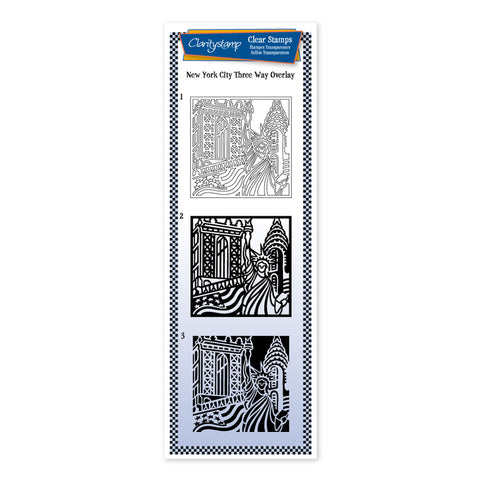 City Skyline - New York <br/> Three Way Overlay Stamp Set