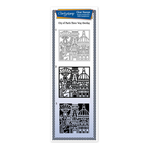 City Skyline - Paris <br/> Three Way Overlay Stamp Set