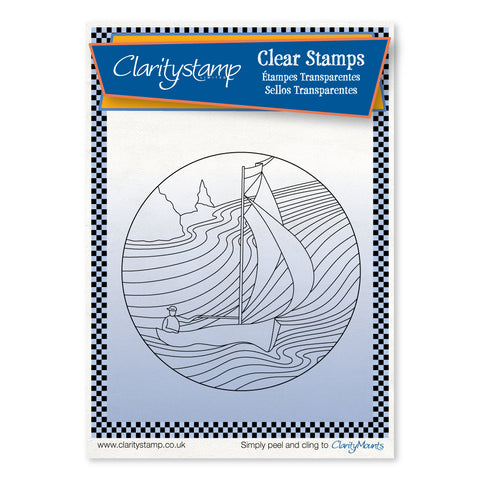 Sailor Round - Fine Line <br/> A6 Unmounted Stamp