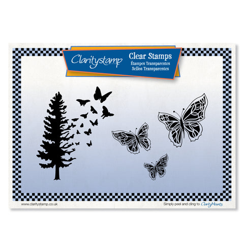 Butterfly Tree Stamp Set