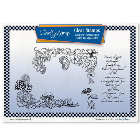 Snail & Butterfly <br/> Unmounted Clear Stamp Set