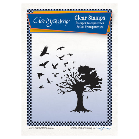 Bird Tree <br/> Unmounted Stamp