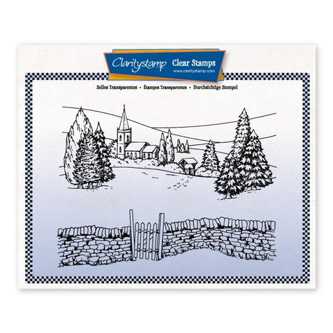 Jayne's Winter Scene - Church Valley <br/> A5 unmounted Stamp Set