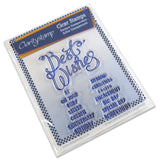 Best Wishes Ribbon Stamp Set