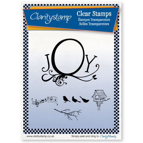 Joy Frame & Bird Song - Unmounted Clear Stamp Set A5