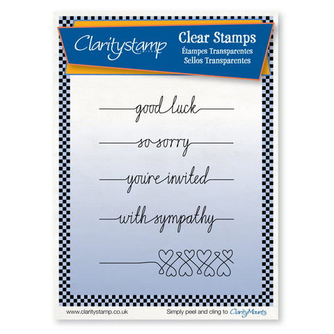 Line Sentiments 3 Stamp Set