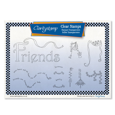Friends Dangles <br/> Unmounted Clear Stamp Set