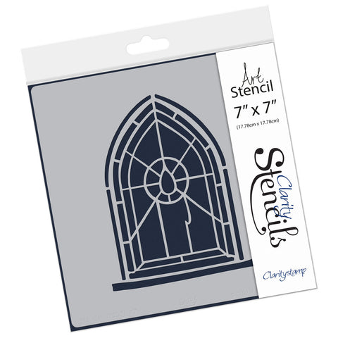 "Candle Window Stencil 7"" x 7"""