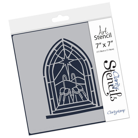 "Shepherds Window Stencil 7"" x 7"""