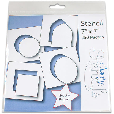 "4 Shapes 1 Stencils 7"" x 7"" (Set of 4)"