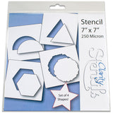 "4 Shapes 2 Stencils 7"" x 7"" (Set of 4)"