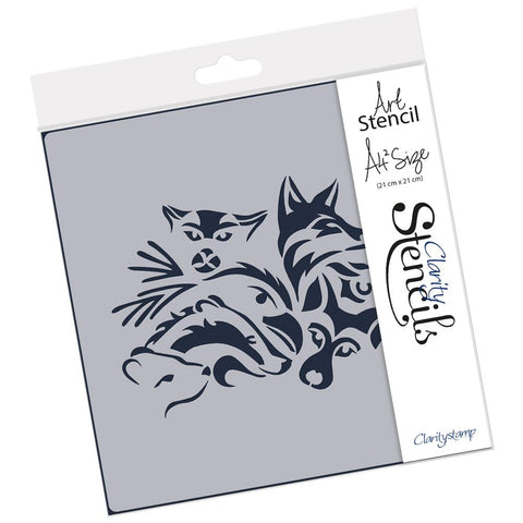 Woodland Animals (PRE-ORDER) <br/> A4 Square Stencil