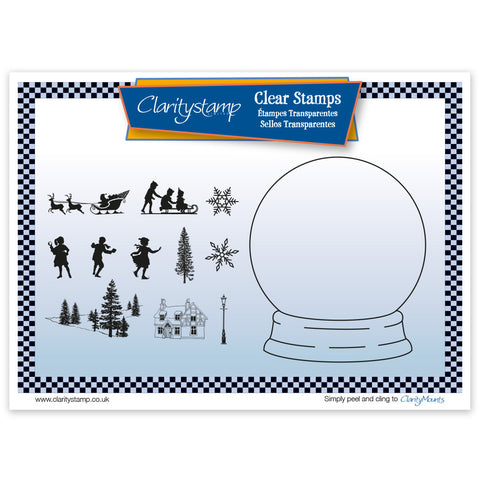Snow Globe + Mask <br/> Unmounted Clear Stamp Set