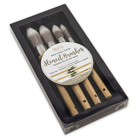ClarityStencil Brushes (Set of 4)