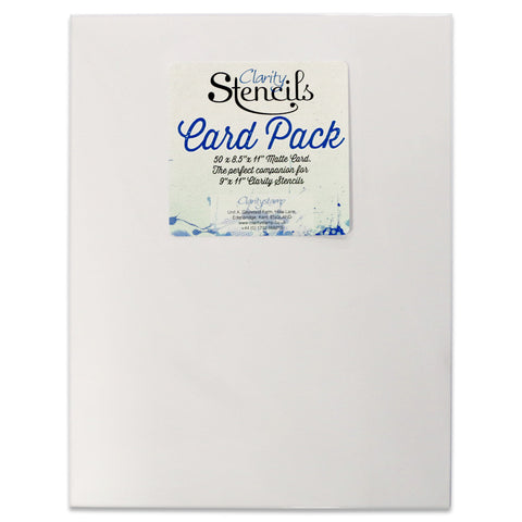 "Clarity Stencil Card 8.5"" x 11"" (Pack of 50)"
