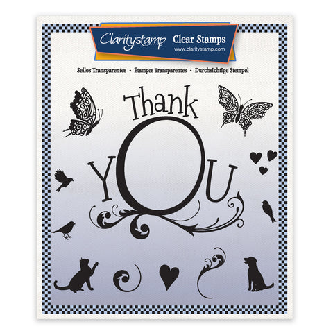 Thank You Framer Unmounted Stamp Set + Mask