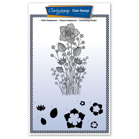 Tina's Daffodil Flower Spray <br/> A5 Unmounted Stamp Set