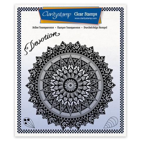 Tina's Devotion Mandala <br/> A5 Square Stamp Set