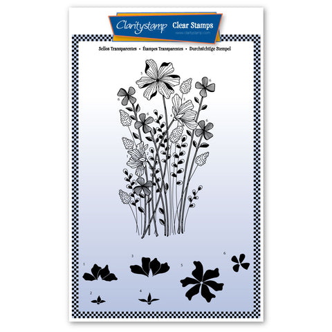 Tina's Meadow Flower Spray <br/> A5 Unmounted Stamp Set