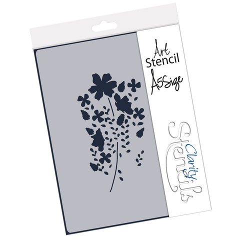 Tina's Meadow Flower Spray <br/> A5 Stencil