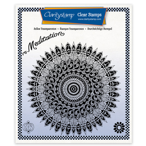 Tina's Meditation Mandala <br/> A5 Square Stamp Set