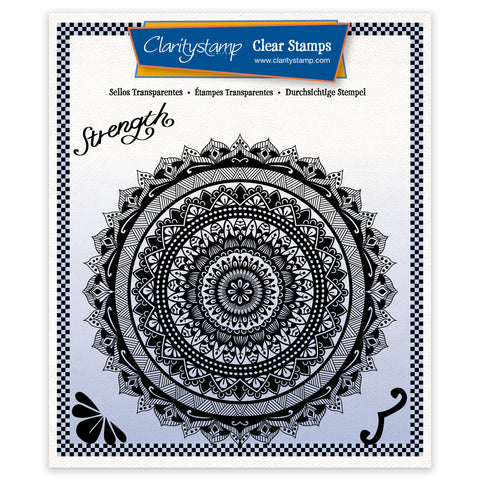 Tina's Strength Mandala <br/> A5 Square Stamp Set