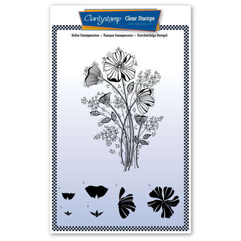 Tina's Wild Flower Spray <br/> A5 Unmounted Stamp Set