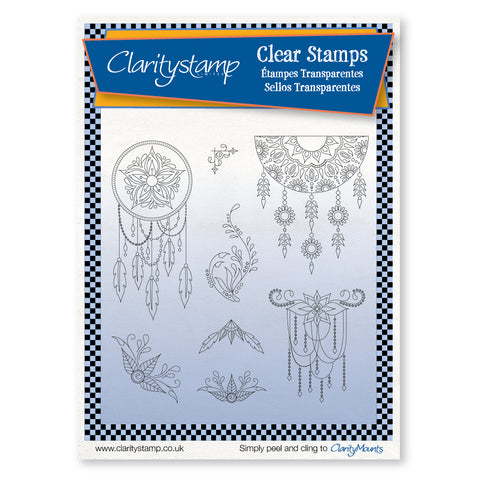 Tina's Henna Dreamcatcher  <br/> A5 Unmounted Stamp Set