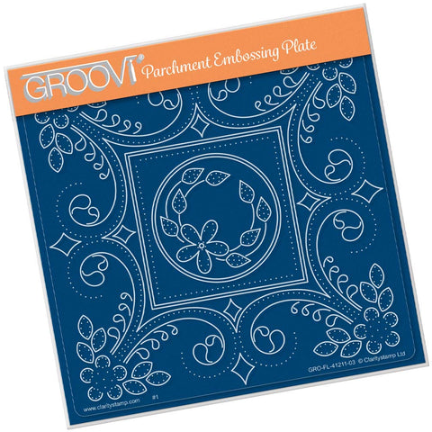 Tina's Embroidery Daisy <br/>A5 Square Groovi Plate