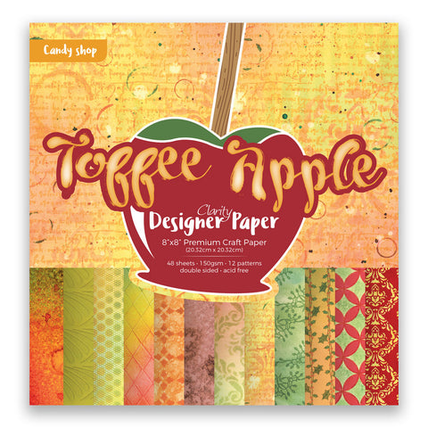 "Toffee Apple <br/> 8"" x 8"" Clarity Designer Paper <br/>"