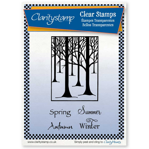 Treescape & Seasons <br/> Unmounted Clear Stamp Set