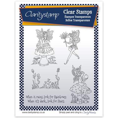 Fairy 1 (Look for Rainbows) <br/> Unmounted Clear Stamp Set