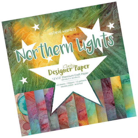 "Northen Lights <br/> Designer Paper Pack 12"" x 12"""