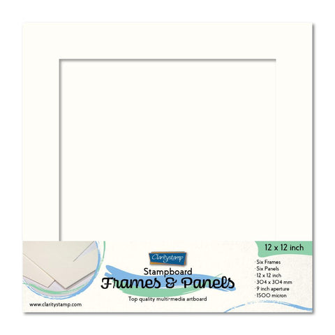 "Clarity Stampboard Frames & Panels 12"" x 12"""