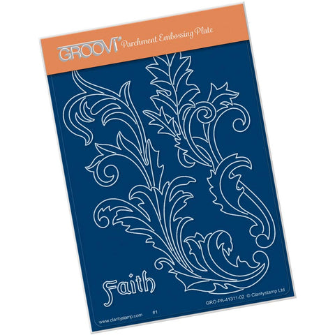 Filigree Swirls - Faith <br/> A6 Groovi Plate