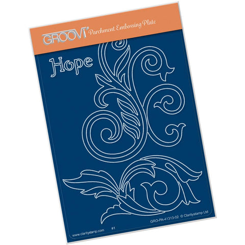 Filigree Swirls - Hope <br/> A6 Groovi Plate