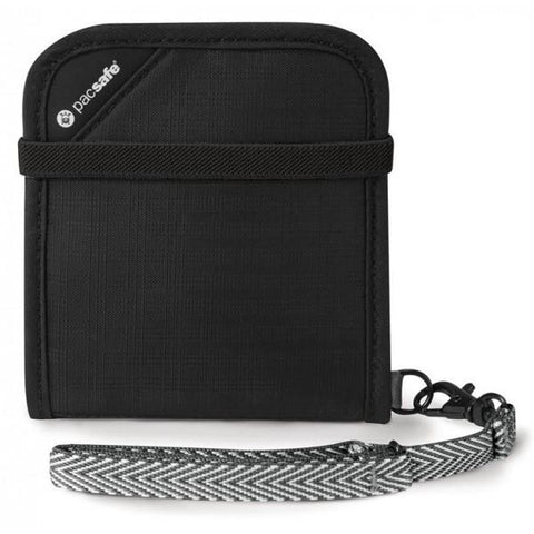 Pacsafe RFIDsafe V100 Black - RFID-blocking bi-fold wallet