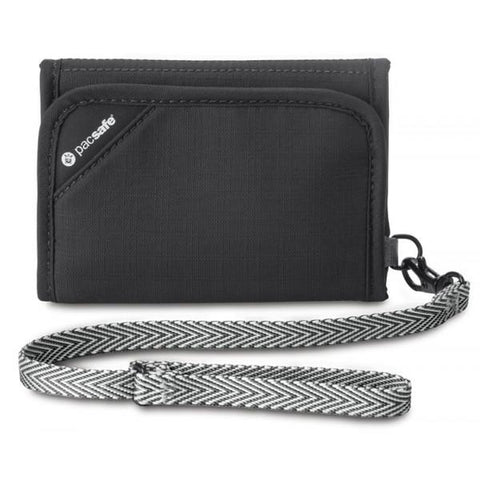 Pacsafe RFIDsafe V125 Navy - RFID-blocking tri-fold wallet