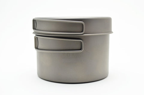 Toaks Titanium Pot and Pan set 1.3L