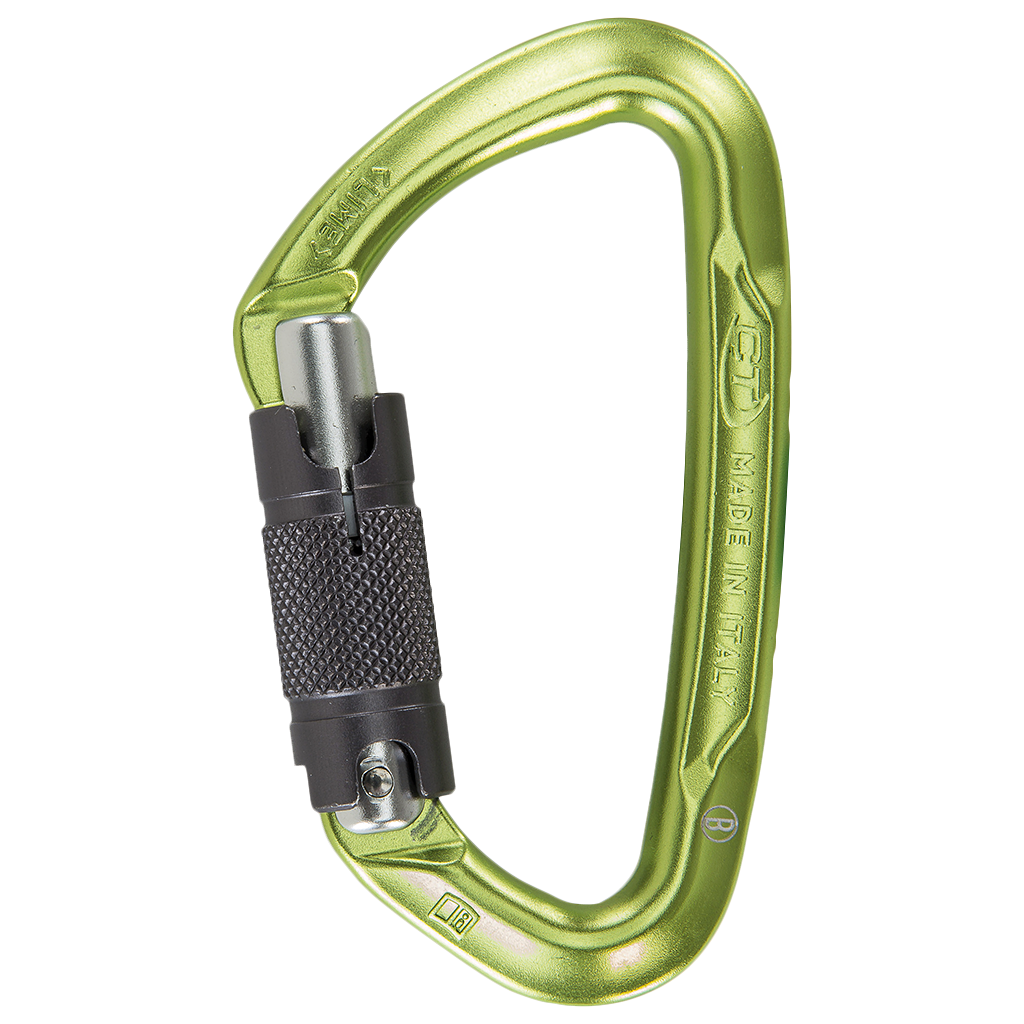 CT Lime WG twist lock carabiner