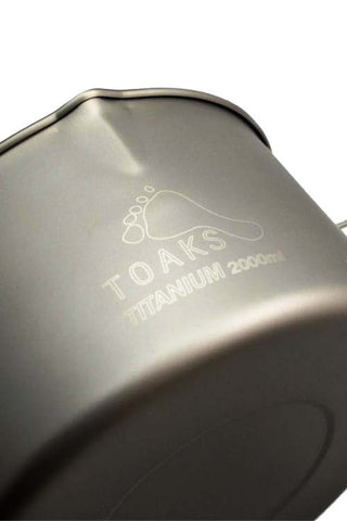 Toaks Titanium Pot with Bail Handle - 2000ml