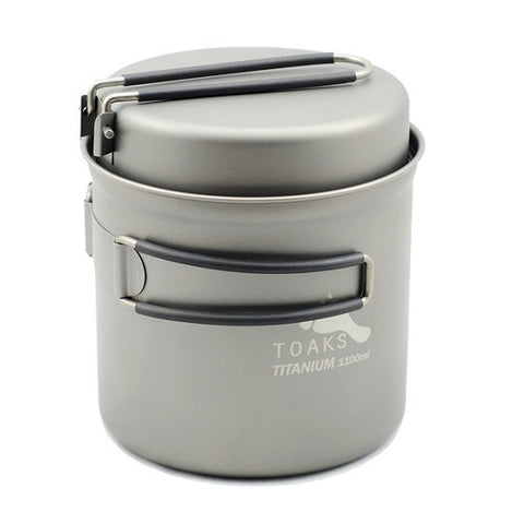 Toaks Titanium Pot & Pan Set - 1100ml