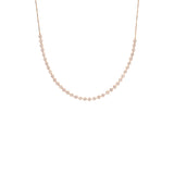 Prong Set Diamond Sliding Choker
