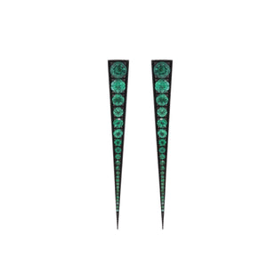 Spike Emerald Earring