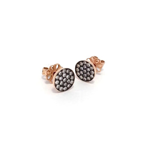 Small Round Pave Earrings