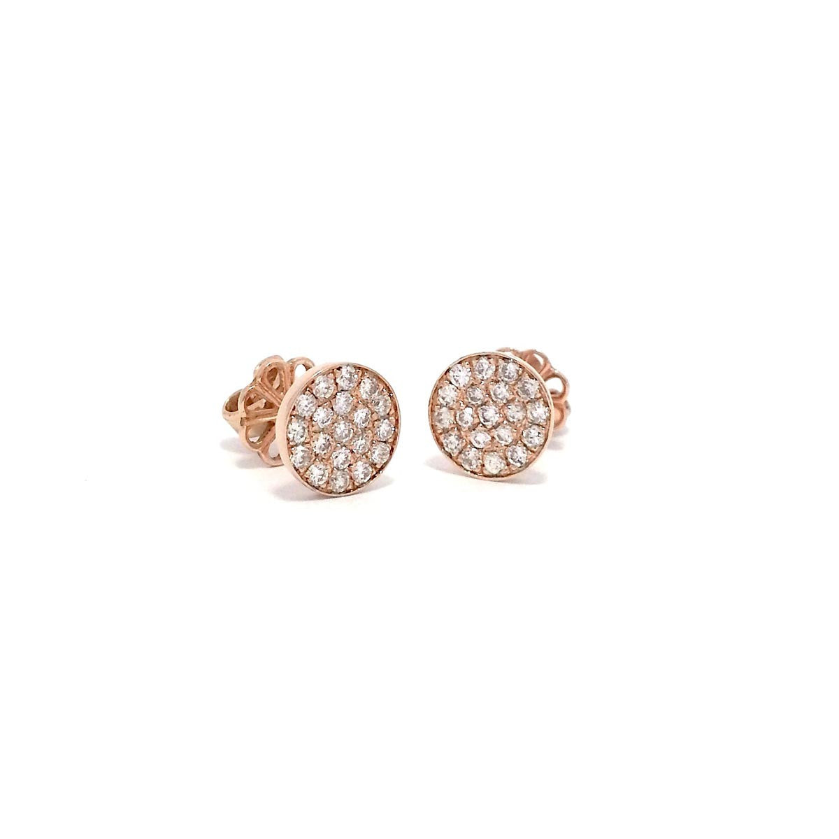 Small Round Pave Earring