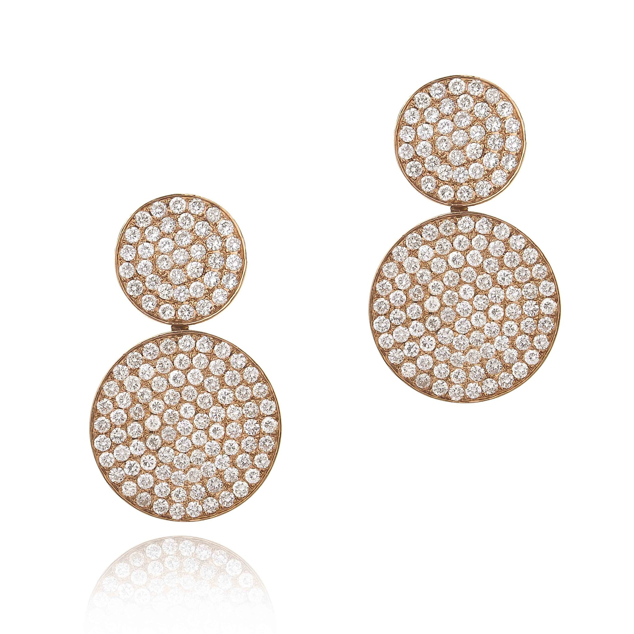 Large Round on Round Earrings