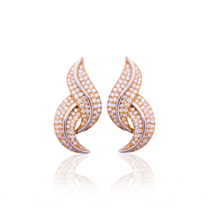 White Twist Earrings