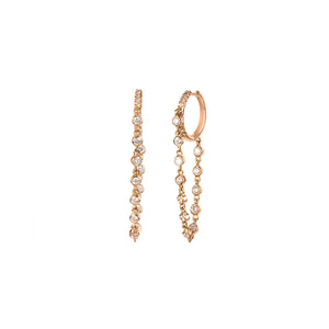 Diamond Dangle Hoops